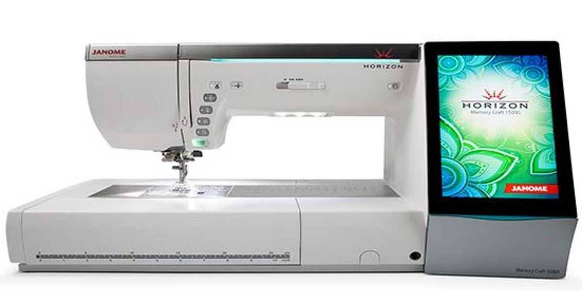janome memory craft 15000 quilt maker sewing and