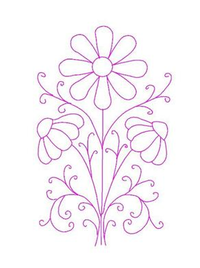 Picture of Flower Free Embroidery Pattern