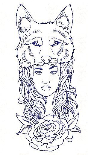 Wolf Girl Free Embroidery Pattern Enchanting Free Embroidery Patterns