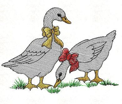 Picture of Ducks Free Embroidery Pattern