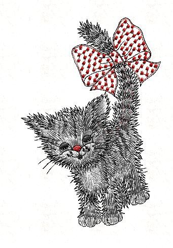 Cat Free Embroidery Patternbrother