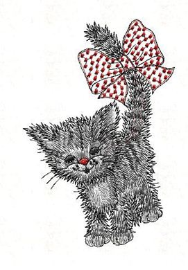 Picture of Cat Free Embroidery Pattern