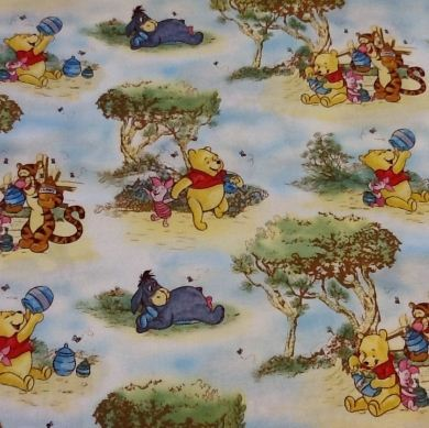 Picture of Winnie The Pooh Characters Fabric - 20424