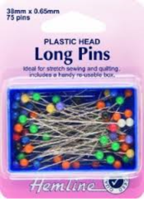 Picture of Hemline Plastic Head Long Pins