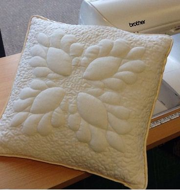 Picture of Free-Motion Trapunto Cushion *Newport* 6th July 2017