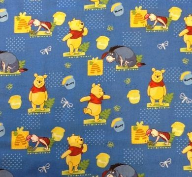 Picture of Winnie The Pooh Character Fabric Piglet and Eeyore - 40093