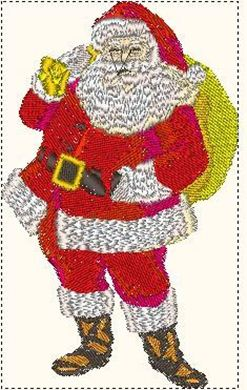 Picture of Father Christmas Embroidery Pattern