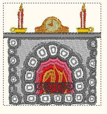 Picture of Fireplace Embroidery Pattern