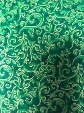 Picture of Green Swirl Christmas Fabric