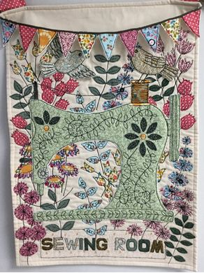 Picture of Free-motion Embroidery Wall Hanging *Cardiff* 05-09-2019 *FULL*