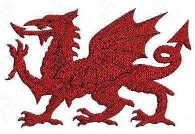 Picture of Welsh Dragon Free Embroidery Pattern