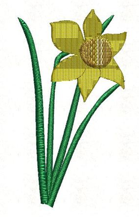 Picture of Daffodil Free Embroidery Pattern