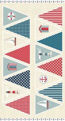 Picture of Novelty Fabric - Ahoy Bunting - 1472
