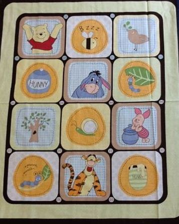 Picture of Winnie The Pooh Characters in Squares Panel - 35600