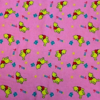 Picture of Brushed Cotton Winnie The Pooh - Pink