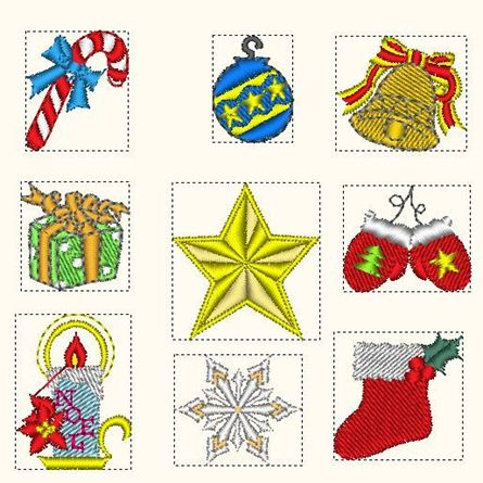 Picture of Christmas variety small Embroidery Pattern