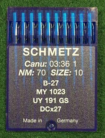 Picture of Schmetz B27 / MY1023 / UY191GS / DCX27