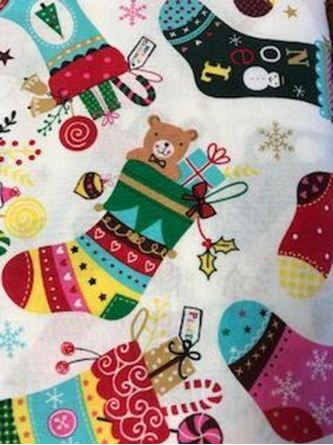 Picture of Stocking Print Fabric