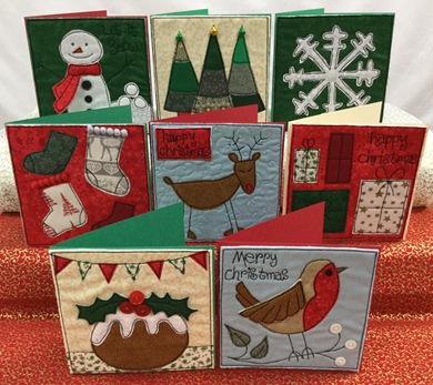 Picture of Free Motion Embroidery Christmas Cards *Newport* 07/11/19