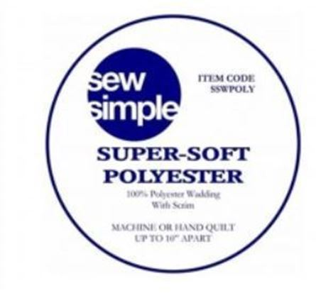 Picture of Sew Simple Supersoft Polyester Wadding 15 metres bolt