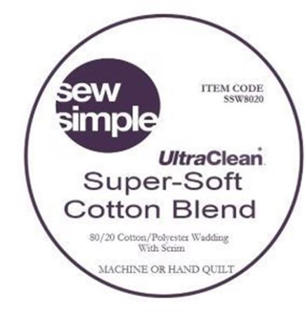 Picture of  Sew Simple Ultra Clean Super Soft Cotton Blend 80/20 Wadding 15metre bolt