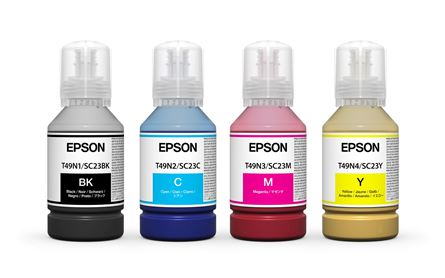 Picture of Epson F500 & F100 dye sublimation UltraChrome inks Complete Set