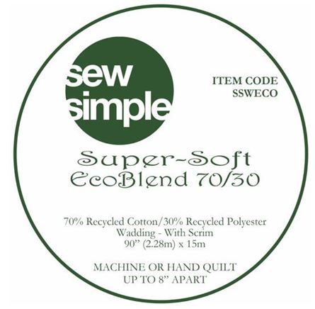 Picture of Sew Simple Super Soft Eco Blend 70/30 Wadding 15metre bolt