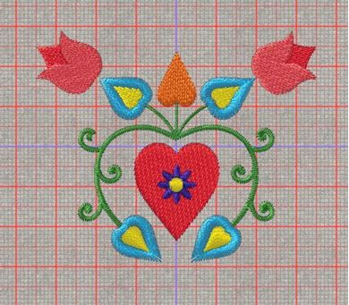 Picture of Heart Free Embroidery Pattern