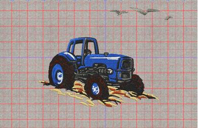 Picture of Tractor Free Embroidery Pattern