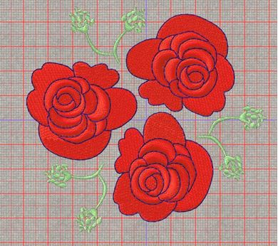 Picture of Roses Free Embroidery Pattern