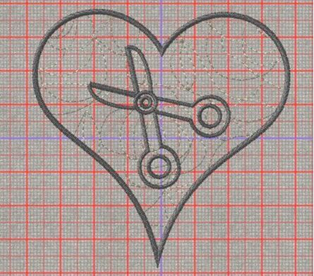 Picture of Scissors Applique Designs Free Embroidery Pattern
