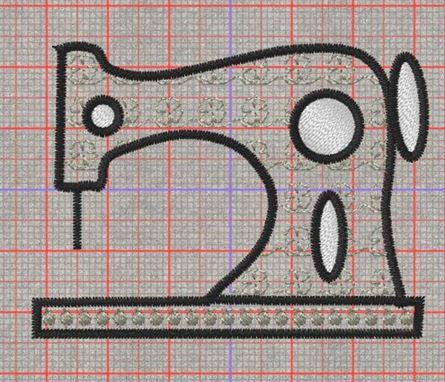 Picture of Sewing Machine Applique Designs Free Embroidery Pattern