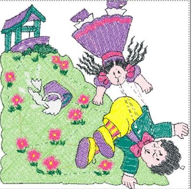 Picture of Jack and Jill Free Embroidery Pattern