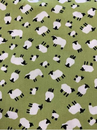 Picture of Little Sheep Fabric Green