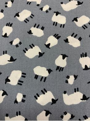 Picture of Little Sheep Fabric Grey