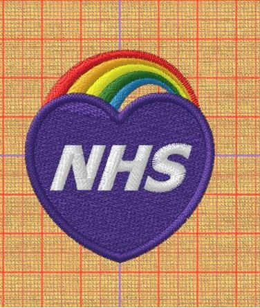Picture of Love NHS Free Embroidery Pattern