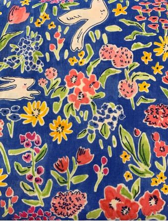 Picture of Spring Flowers Fabric R45