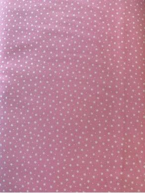 Picture of Rose & Hubble White Stars on pink fabric