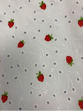 Picture of Printed Poly-Cotton Strawberries