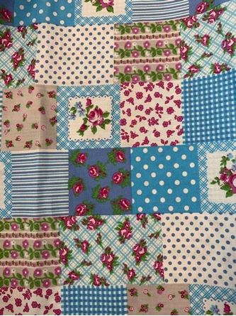 Picture of Patch Work Fabric Light Blue
