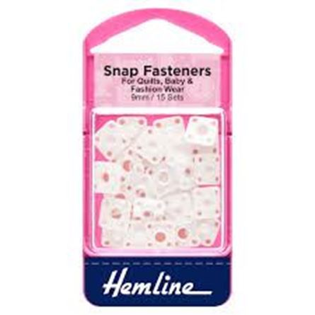 Picture of Snap Fasteners: Sew-on: Derlin (Plastic): 9mm: Pack of 15