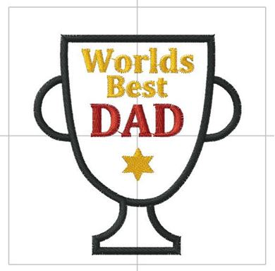 Picture of Worlds Best Dad Free Embroidery Pattern