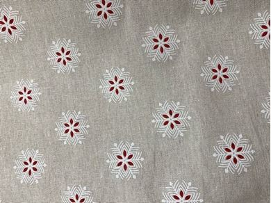 Picture of Christmas Snow Linen Look Fabric for Crafts /Cushions/ Table Runner