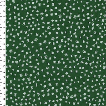 Picture of Chistmas – Metallic New Stars Silver on Green JLX0031