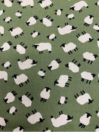 Picture of Little Sheep Fabric Sage