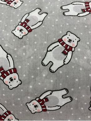 Picture of Christmas Polar Bear Fabric