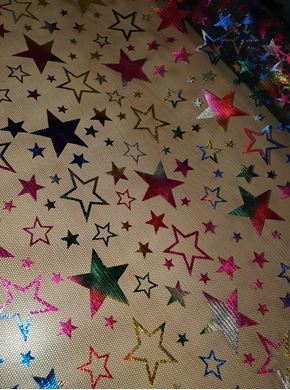 Picture of Star Foil Print Fabric