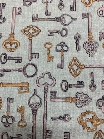 Picture of 1m Makower Key SALE Fabric
