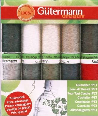 Picture of  Gutermann Sew-all Thread Set 10 X 100m Reels (Dark Colours)