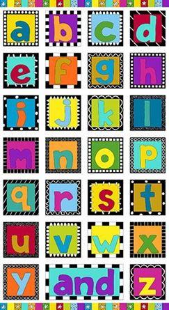 Picture of Alphabet PanelFabric 8560